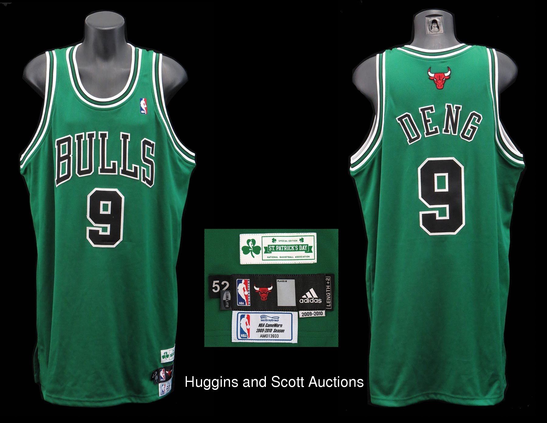 the latest 683ba bc84b Luol Deng 2009-2010 Game-Issued Chicago Bulls St. Patrick's ...