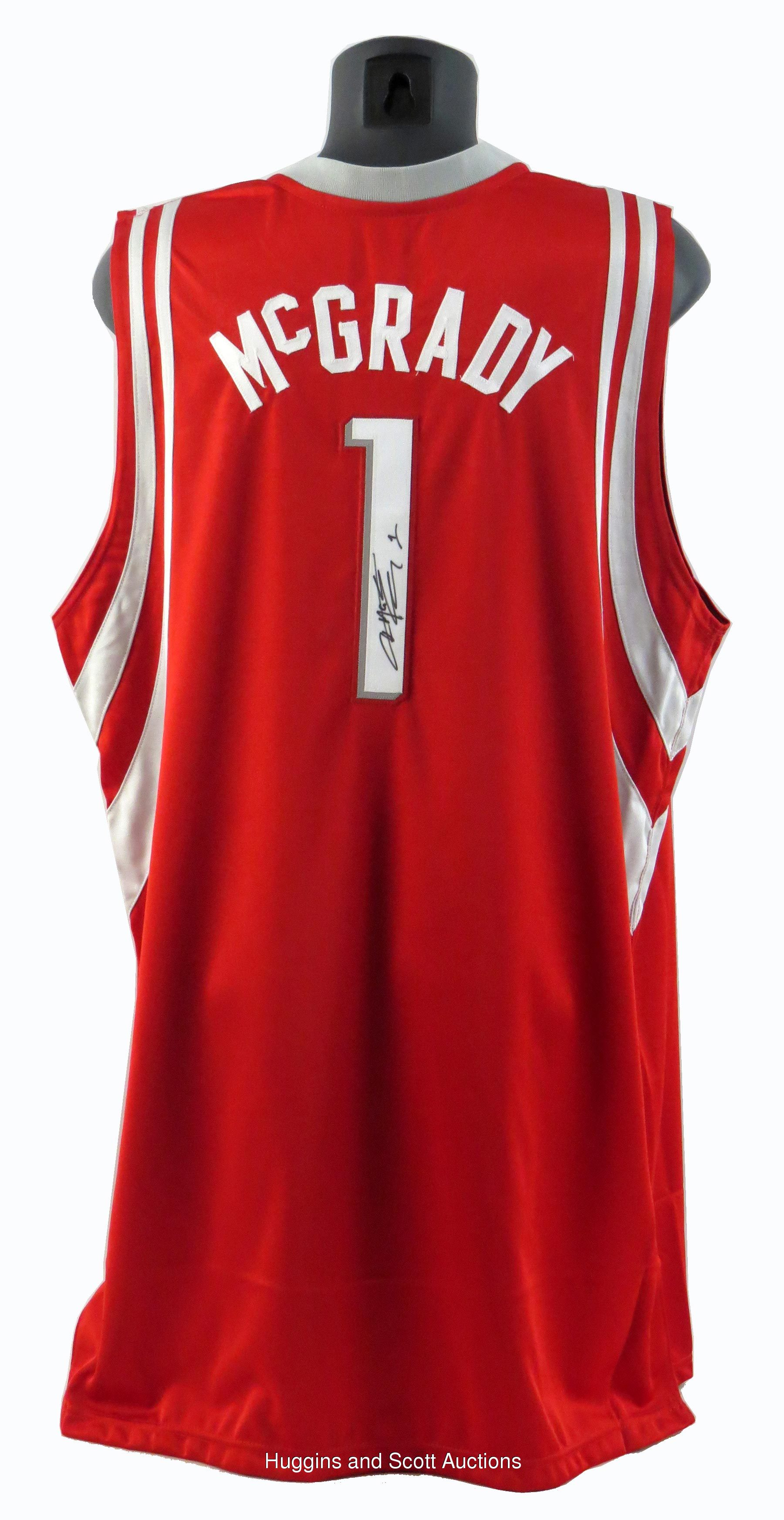 big sale 70a4a 7dcce Tracy McGrady Signed, Game-Worn Rockets Jersey and Adidas ...